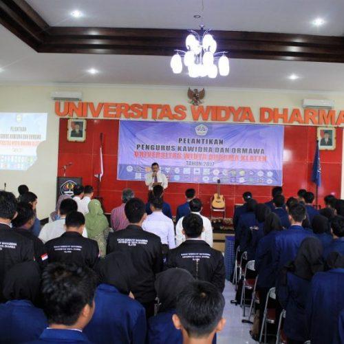Pelantikan Pengurus Ormawa dan Kawidha 2017
