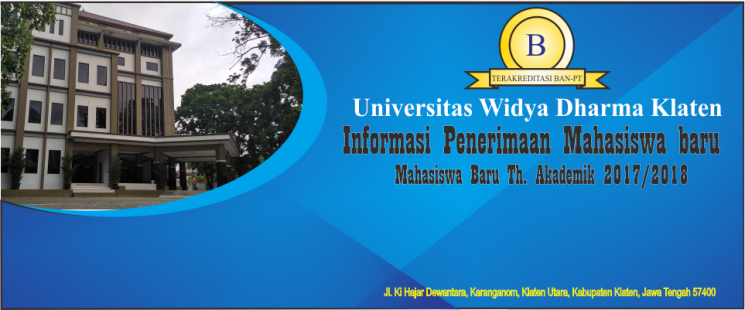 Penerimaan Mahasiswa 2017/ 2018