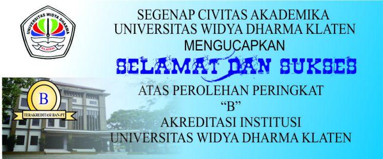 Akreditasi Universitas Widya Dharma Klaten