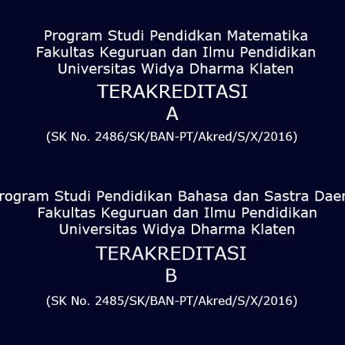 Akreditasi Pendidikan Matematika dan PBSD Tahun 2016