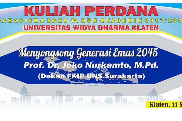Materi Kuliah Perdana Tahun Akademik 2017/2018