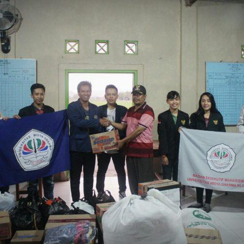BAKSOS Mahasiswa UNWIDHA di Daerah Bencana Tahun 2017