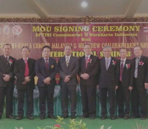 MOu UNWIDHA dengan University of Kuala Lumpur (UniKL) Malaysia dan Huachiew Chalermprakiet University (HCU) Thailand