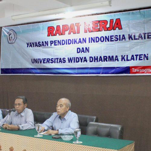 Rapat Kerja 2018 YPI Klaten- UNWIDHA Klaten