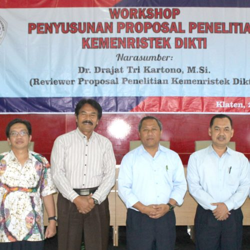 Workshop Penulisan Proposal Penelitian Kemenristek Dikti