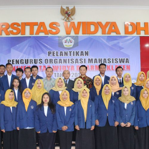 Pelantikan Pengurus Organisasi Mahasiswa Unwidha Klaten Tahun  2018