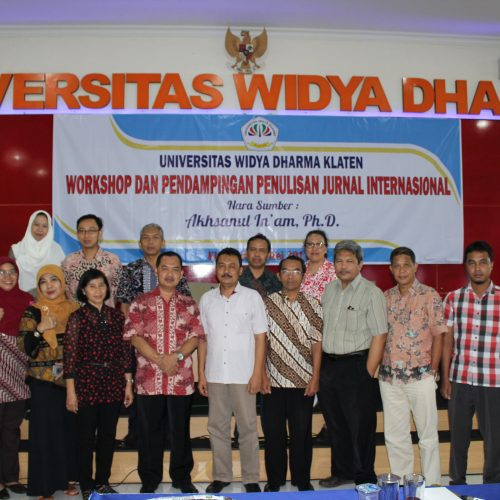 Workshop dan Pendampingan Penulisan Jurnal Internasional