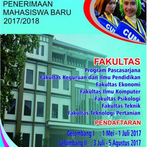 Penerimaan Mahasiswa Tahun Akademik 2017/2018