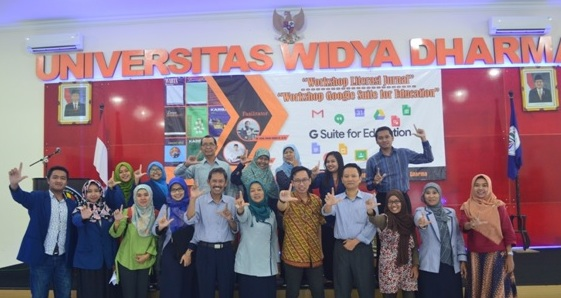 "workshop ""Literasi Jurnal"" dan ""Google Suite for Education"""