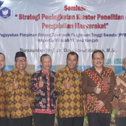 Seminar Strategi Peningkatan Klaster Penelitian dan Pengabdian Masyarakat
