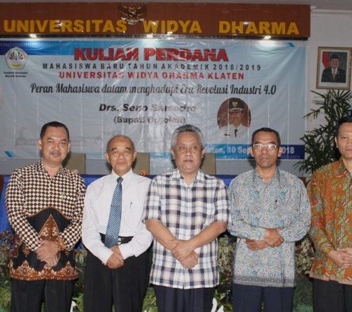 Kuliah perdana mahasiswa baru angkatan 2018 – UNWIDHA KLATEN