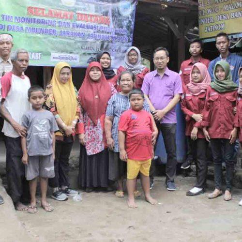 Kunjungan Tim Monev  PHBD UNWIDHA 2018 di Desa Tegalmulyo dan Bunder