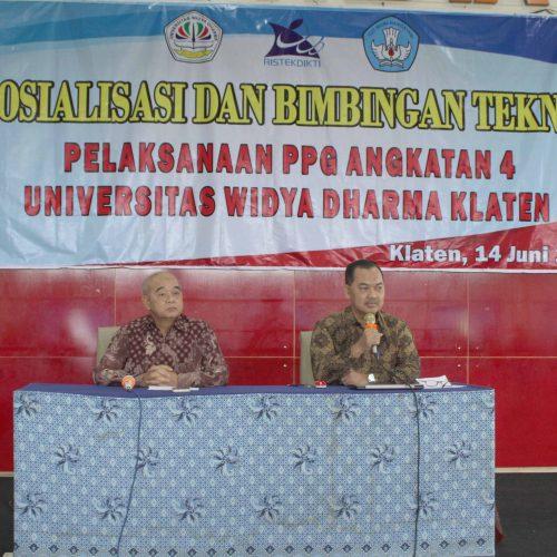 Sosialisasi dan Bimbingan Teknis Pembelajaran Daring Program PPG Angkatan 4