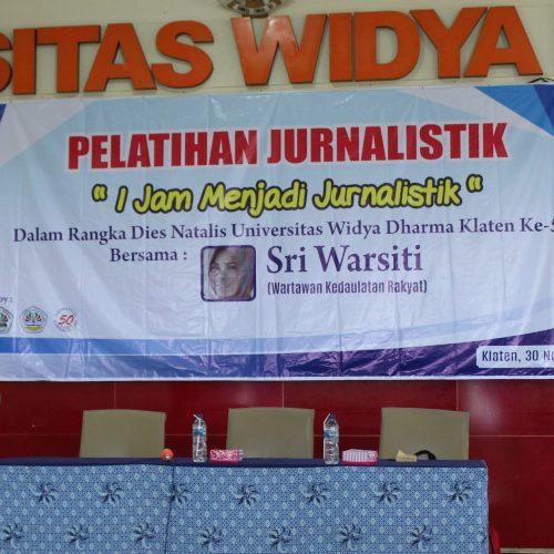 Pelatihan Jurnalistik UNWIDHA Klaten