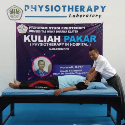 Program Studi DIII Fisioterapi UNWIDHA Mengadakan Kuliah Pakar