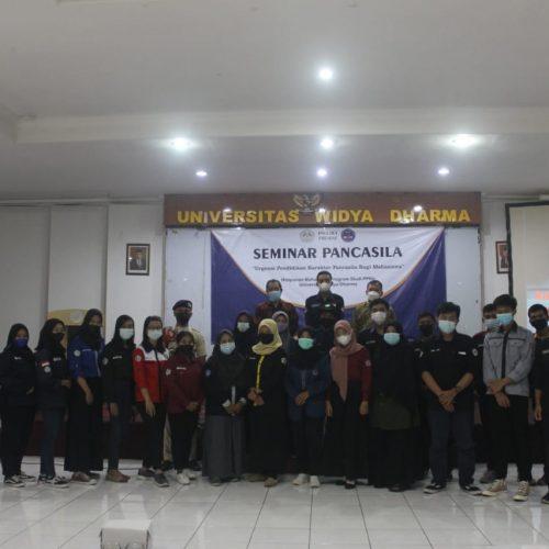 "Seminar Pancasila ""Urgensi Pendidikan Karakter Pancasila Bagi Mahasiswa"" Dalam rangka memperingati hari lahir Pancasila Oleh HMP PPKn tahun 2021"